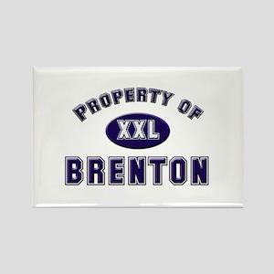 Property of brenton Rectangle Magnet