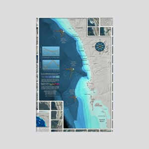 CafePress Surf Map Rectangle Magnet