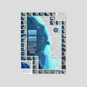 CafePress Surf Map 5'x7'Area Rug