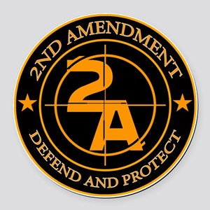 2ND Amendment 3 Round Car Magnet