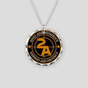 2ND Amendment 3 Necklace Circle Charm