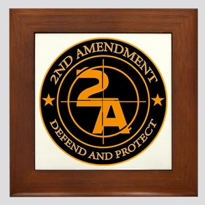 2ND Amendment 3 Framed Tile