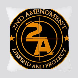 2ND Amendment 3 Woven Throw Pillow
