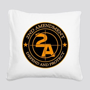2ND Amendment 3 Square Canvas Pillow