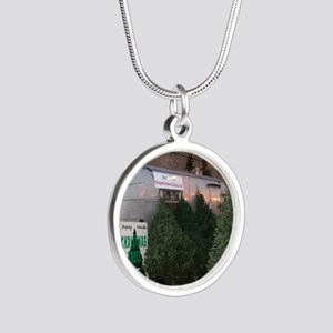 holiday2 Silver Round Necklace