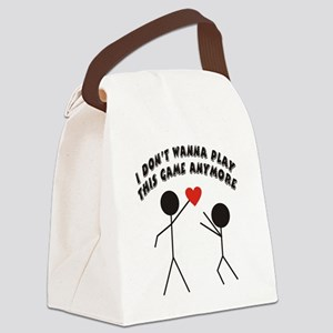 I dont want to play Canvas Lunch Bag