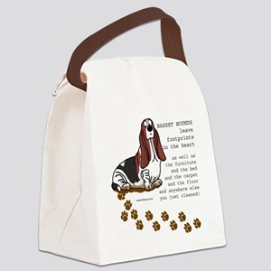 footprints-basset copy Canvas Lunch Bag