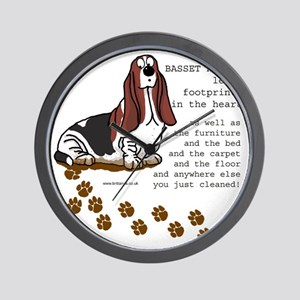 footprints-basset copy.gif Wall Clock