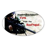 Voting Rights--Oval Sticker