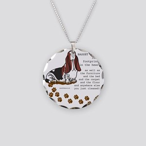footprints-basset copy Necklace Circle Charm