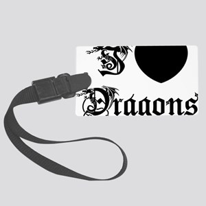 dragon75red Large Luggage Tag