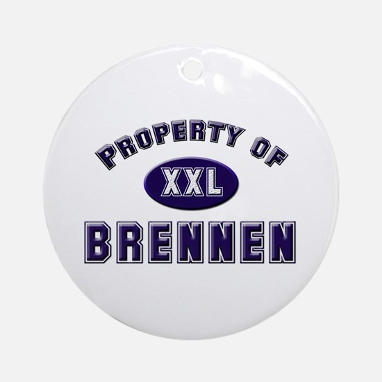 Property of brennen Ornament (Round)