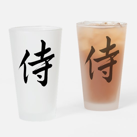samurai-black-6x6 Drinking Glass