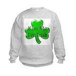 Kiss Me I'm Irish Kids Sweatshirt