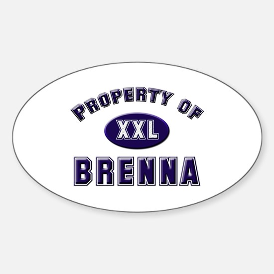 Property of brenna Oval Decal