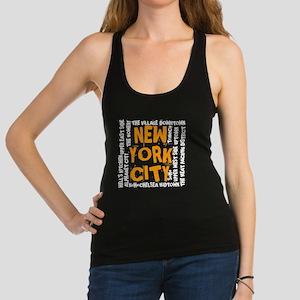 NYC_neighborhoods2 Racerback Tank Top