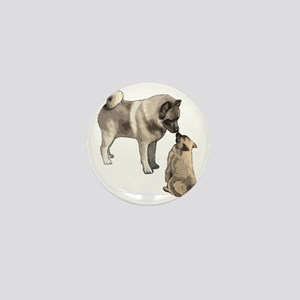elkie adult and puppy5 Mini Button