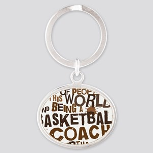 basketballcoachbrown Oval Keychain