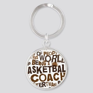 basketballcoachbrown Round Keychain