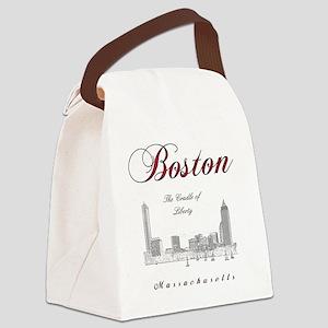 Boston_Wmn_plusv_front_Skyline_Bl Canvas Lunch Bag