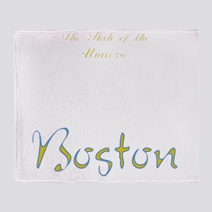 Boston_10x10_Skyline_TheHubOfUnivers Throw Blanket