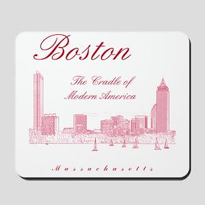 Boston_10x10_Skyline_TheCradleOfModernAm Mousepad