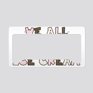 big_eyes_icecream12 License Plate Holder