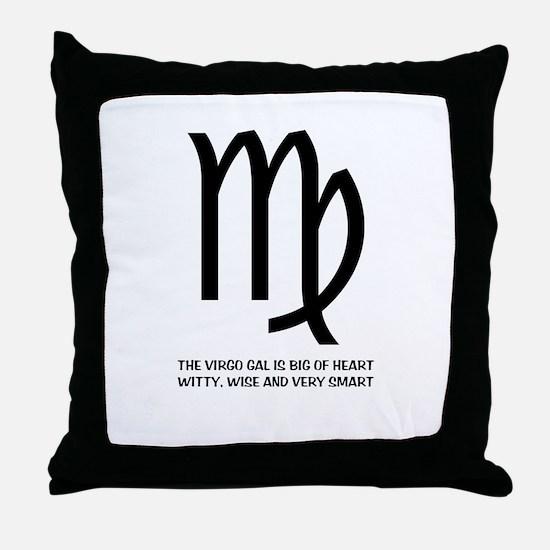 Virgo Gal Throw Pillow