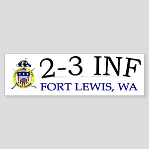 2nd Bn 3rd Infantry cap Sticker (Bumper)