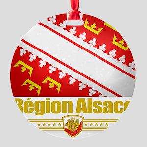 Alsace (Flag 10) Round Ornament