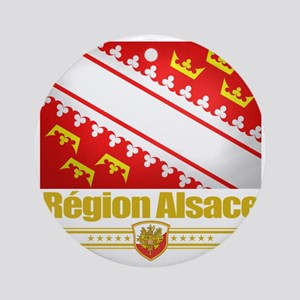 Alsace (Flag 10) Round Ornament