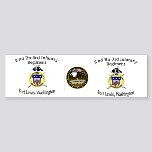 2nd Bn 3rd Infantry mug Sticker (Bumper)
