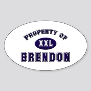 Property of brendon Oval Sticker