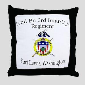 2nd Bn 3rd Infantry Throw Pillow