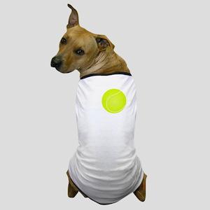 Go Hard Tennis White Dog T-Shirt