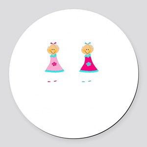 Sister Smile White Round Car Magnet