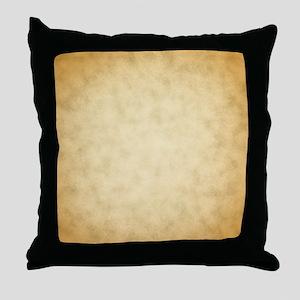 Vintage Paper Look Pattern Print. Throw Pillow