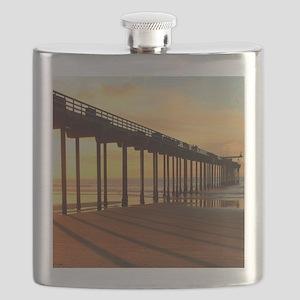 Scripps-Pier-Sunset1 Flask