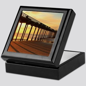 Scripps-Pier-Sunset1 Keepsake Box