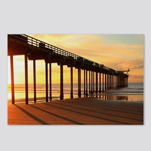 Scripps-Pier-Sunset1 Postcards (Package of 8)