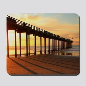 Scripps-Pier-Sunset1 Mousepad