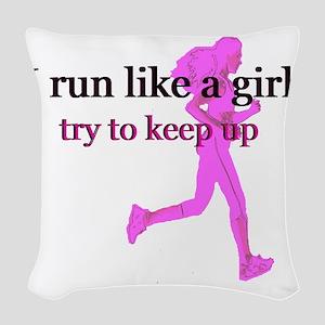 runlikegirl Woven Throw Pillow