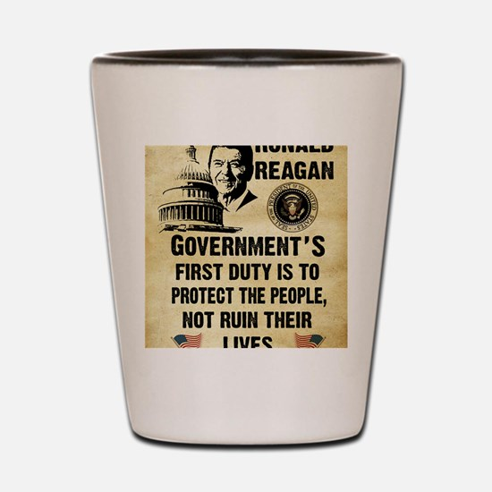 Governments First Duty Small Poster Shot Glass