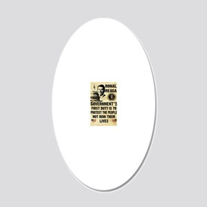 Governments First Duty Small 20x12 Oval Wall Decal