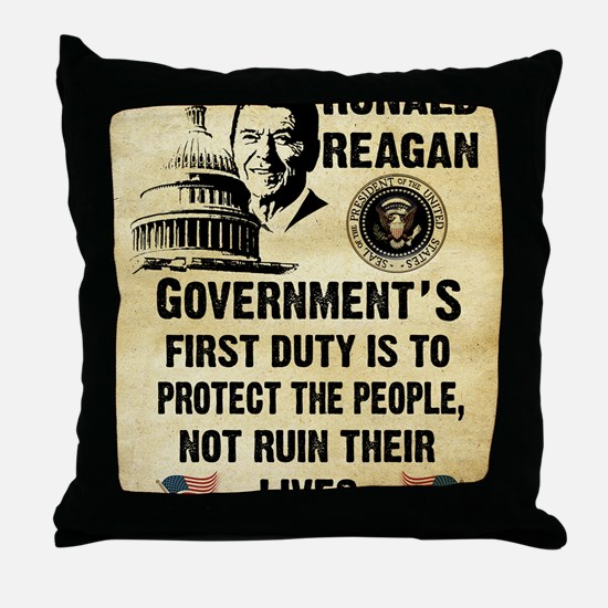 Governments First Duty Small Poster Throw Pillow