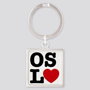 Oslove heart Square Keychain