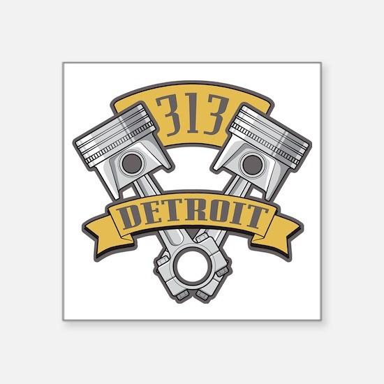 """Piston Pride Logo Square Sticker 3"""" x 3"""""""