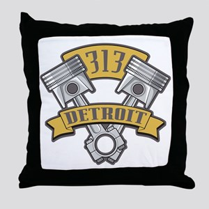 Piston Pride Logo Throw Pillow