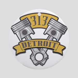 Piston Pride Logo Round Ornament