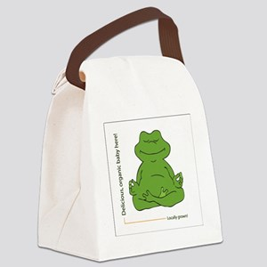 frog_organic_baby Canvas Lunch Bag